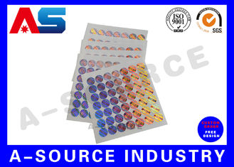 चीन Tamper Evident 3D Custom Holographic Stickers for steroid label box packaging आपूर्तिकर्ता