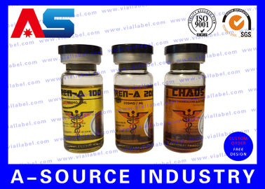 चीन Plastic Waterproof Steroid Vial Labels Strong Adhesive For Injection Vial आपूर्तिकर्ता
