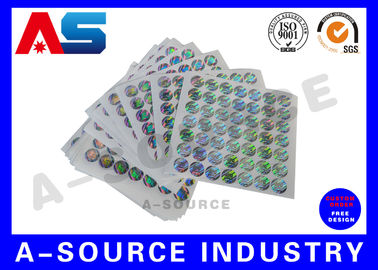 चीन Silver Background Custom Holographic Stickers Security Printing For Pharmaceutical Secure Packaging फैक्टरी
