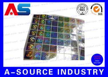 चीन Anti - Fake Security Hologram Stickers For 10ml Vial Label Boxes फैक्टरी