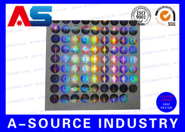 चीन Silver Security Custom Holographic Stickers Label Tamper Proof Seal Custom Design वितरक