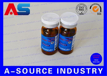 चीन RX 10ml Vial Labels Silver Foil Metallic Printing For Laboratory Injection Multiple-Dose Vial वितरक